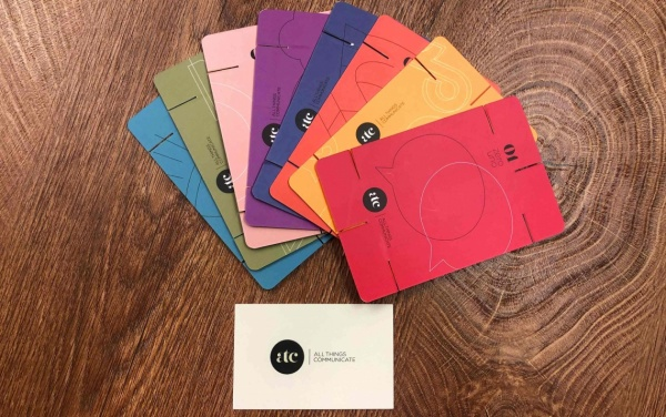 The cards created by ATC for the Global Summit
