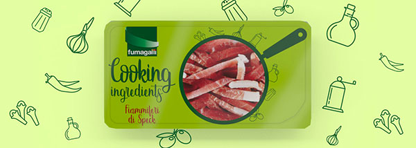 Cooking Ingredients new packaging design by ATC for Fumagalli Cold cuts