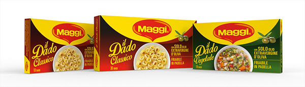 Dado Maggi Nestlé Group new packaging design by ATC