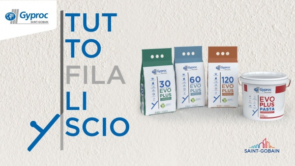 Repackaging by ATC – All Things Communicate for Gyproc-branded Saint-Gobain Italy's plaster range