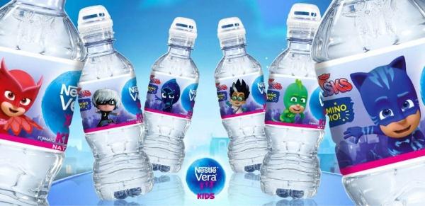 The new Nestlé Vera PJmasks bottle labels