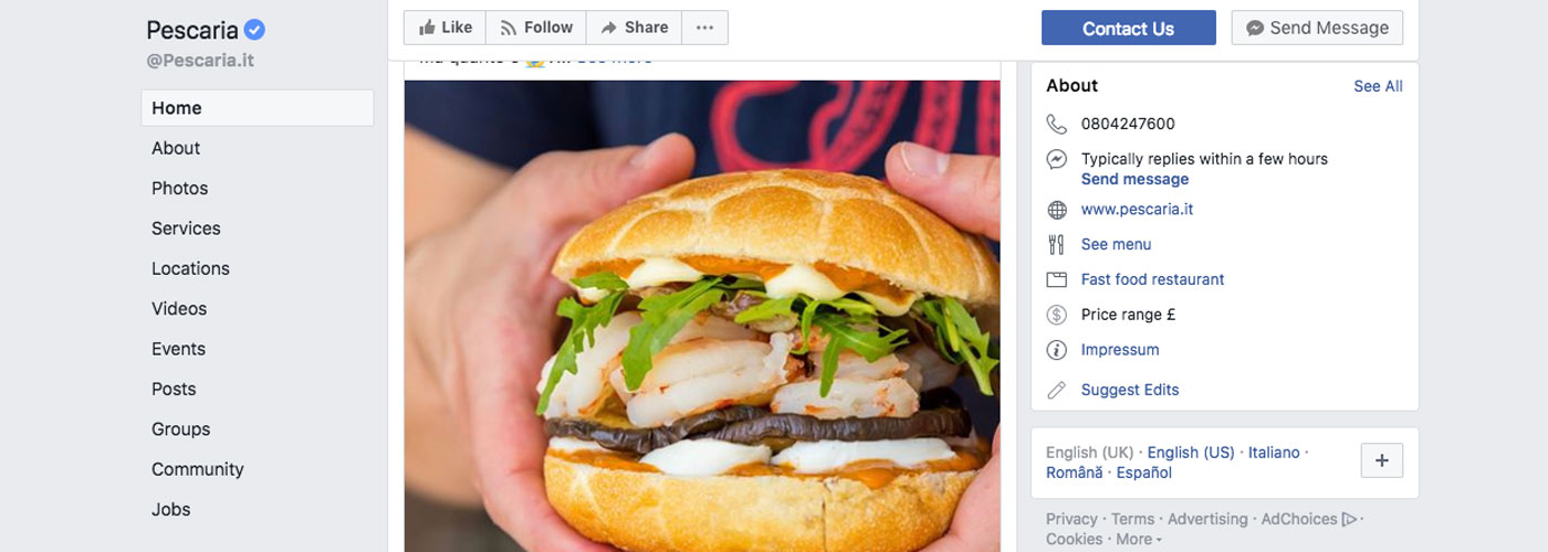 Pescaria Facebook strategy is example of good advertising