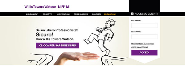 Homepage website Sicuri con Willis by ATC and Willis Tower Watson