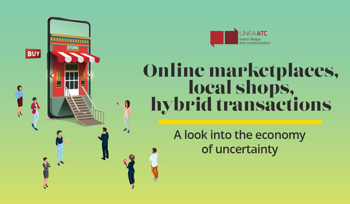 Online marketplaces, local shops, hybrid transactions