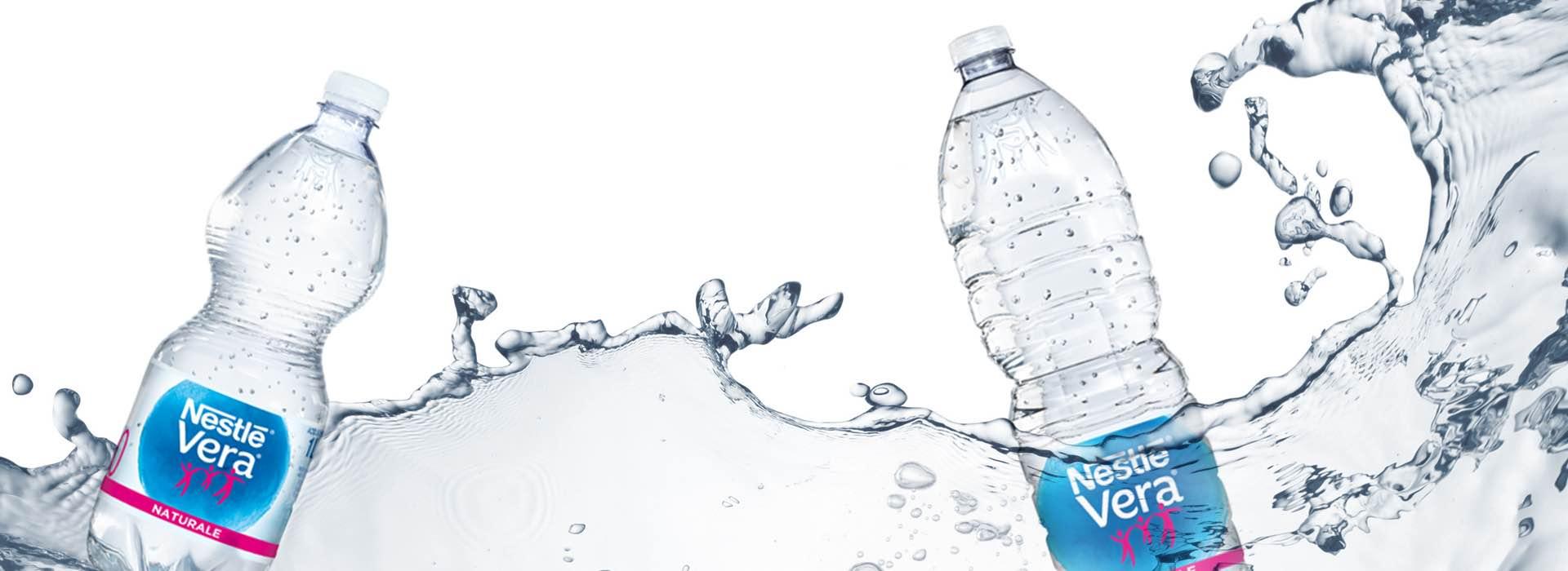 Nestlé Vera bottled water labels repackaging