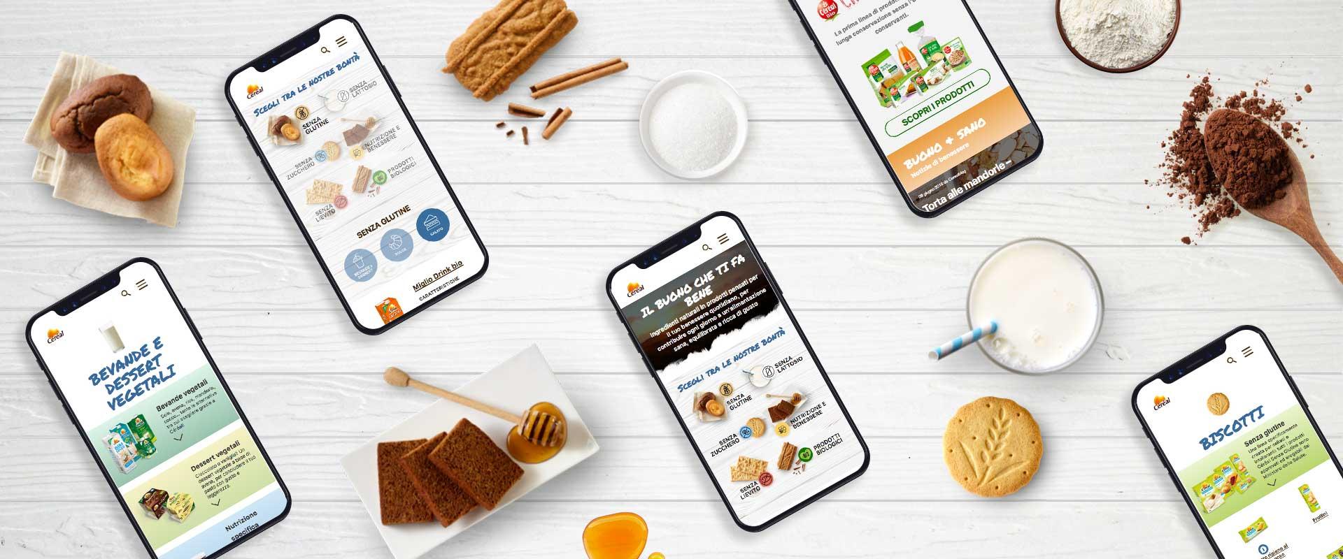 mobile design per il corporate website di Cereal