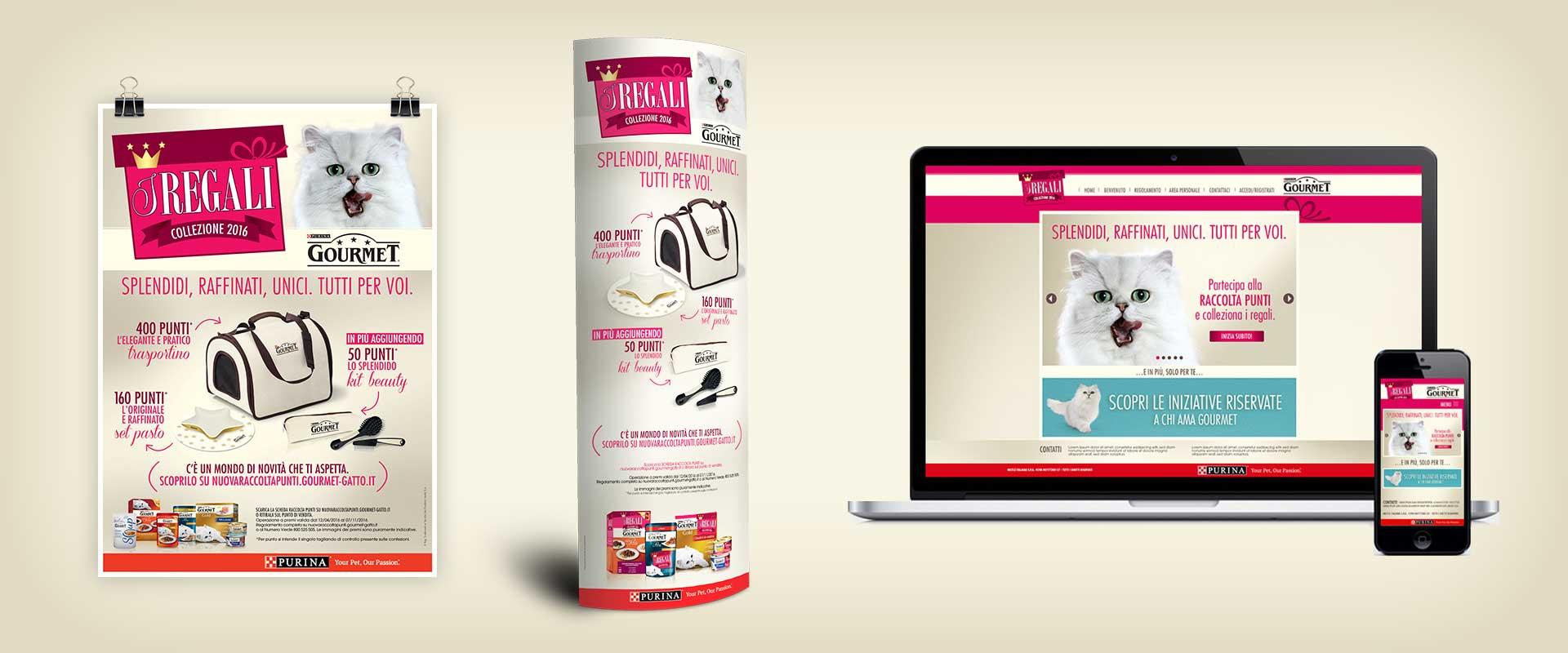 materiali punto vendita digital web design concept collection raccolta punti Gourmet