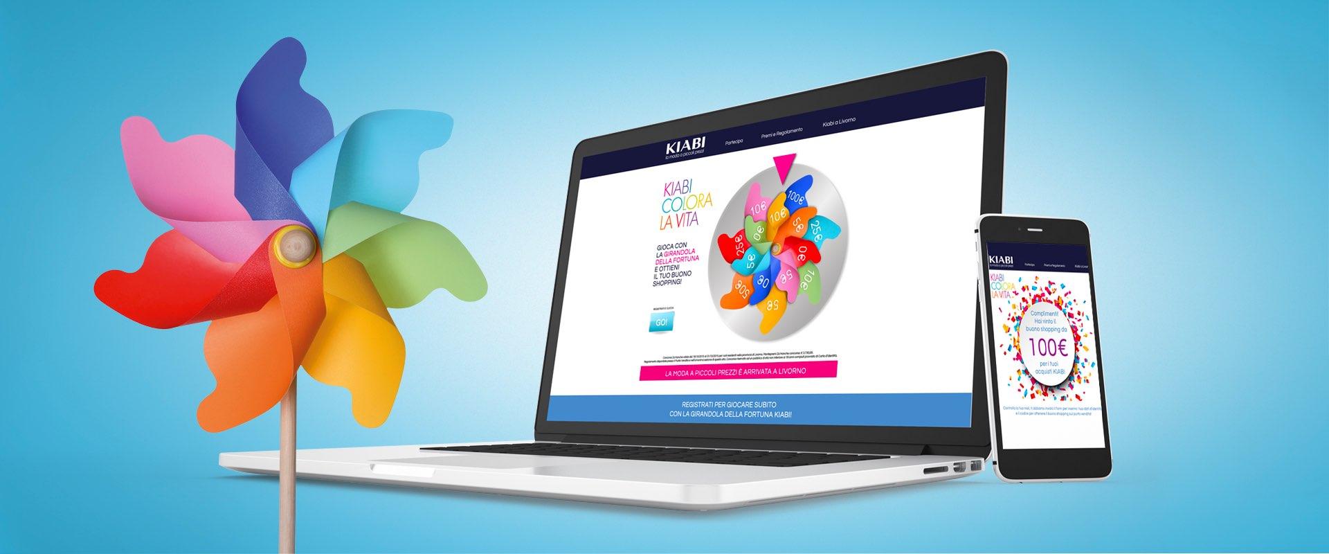 web design edigital activation concorso online Kiabi