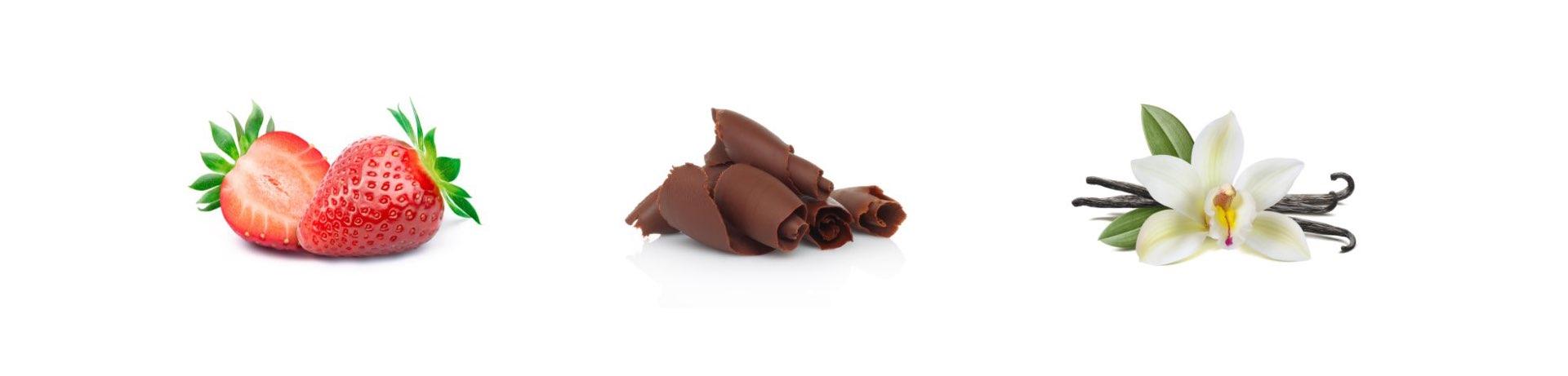 brand strategy e campagna di comunicazione OPTIFAST, gusti fragola, cioccolato e vaniglia