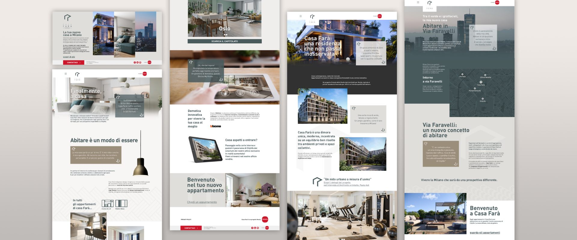 casa-fara.it is the mini website for real estate group Nexity Italia